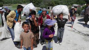 yara yan gudun hijirar kasar Siriya