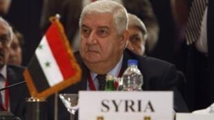 O ministro sírio das Relações Exteriores, Walid Mualem.