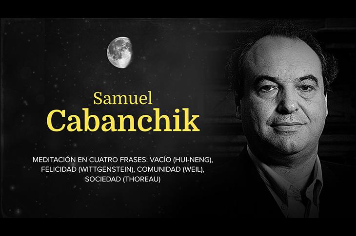 Cartel de la participación de Samuel Cabanchik en la Noche de la Filosofía 2018 en Buenos Aires