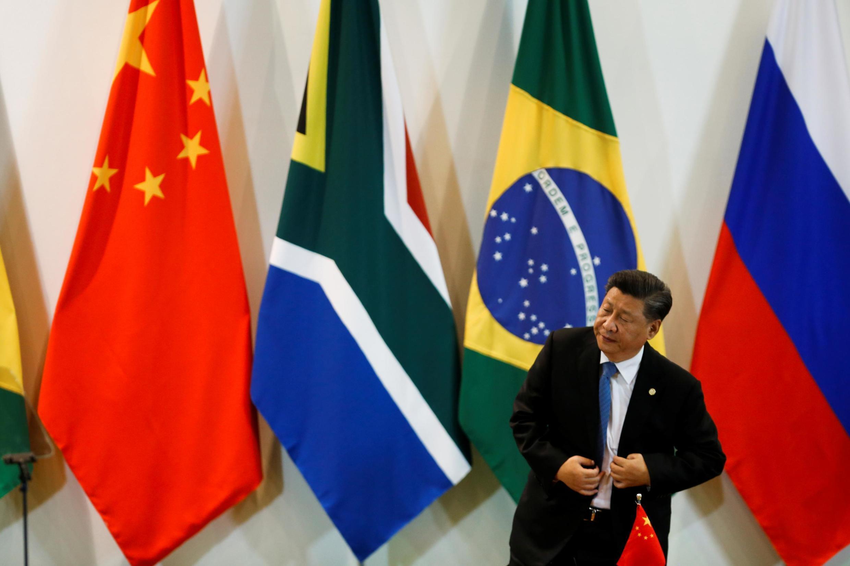 習近平在巴西金磚國家首腦會議上  2019年11月14日