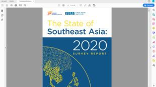 Báo cáo thăm dò dư luận tại 10 nước Đông Nam Á 2020 của Học viện ISEAS-Yusof Ishak, Singapore (Chụp từ internet)
