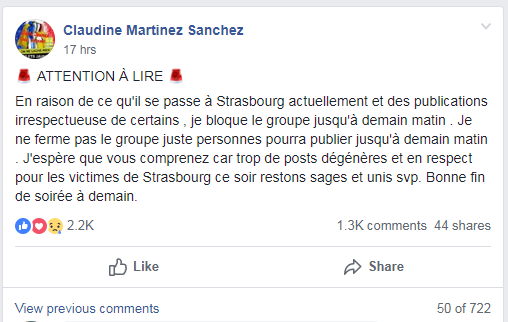 Screen capture of Yellow Vest Facebook page