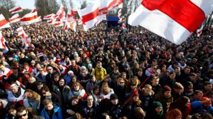 Празднование столетия Белорусской Народной Республики в Минске, 25 марта 2018.