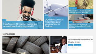 La page d'accueil du pure payer Ecce Africa.