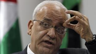 Palestinian negotiator Saeb Erekat