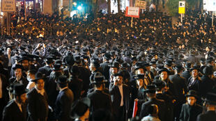 Ultra-Orthodox Jews gathered again in Jerusalem on Tuesday evening to protest against coronavirus restrictions