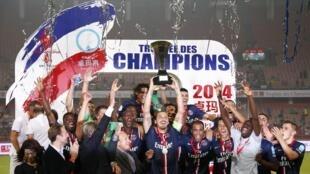 Đội Paris Saint-Germain đã thắng đối thủ Guingamp, giành Siêu Cúp nước Pháp trên sân vận động ở Bắc Kinh, ngày 02/08/2014