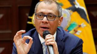 Jorge Glas, o ex-vice-presidente do Equador, permanece em uma prisão de Quito desde 2 de outubro passado pelo escândalo de corrupção da Odebrecht.