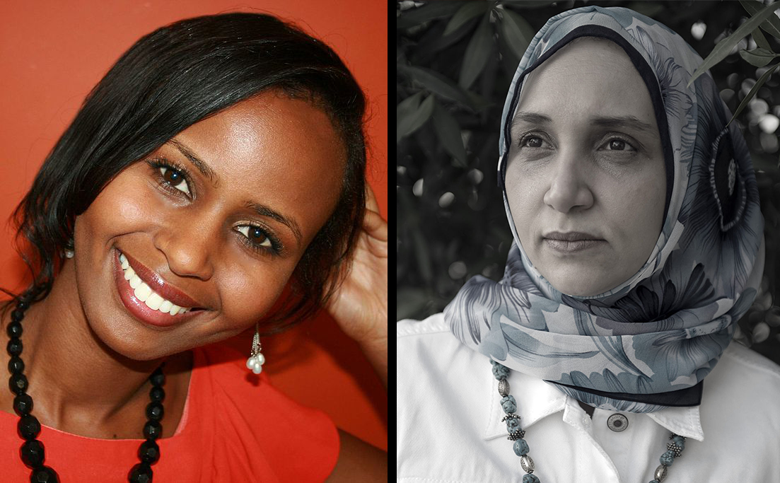 """Nadifa Mohamed (l), the author of """"The Orchard of Lost Souls"""" and Leila Aboulela (r), the author of """"The Kindness of Enemies"""""""