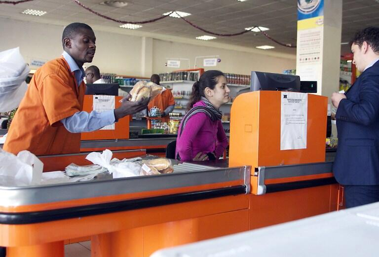 Un supermarché à Bamako au Mali en décembre 2012.
