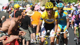 The clash of the Titans: Alberto Contador and Andy Schleck