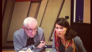 Никита Сарников и Аня Строганова в студии парижского дома Радио