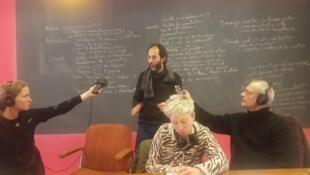 Anna Kovaleva, Flavien Gillié, Laure Gatelier et Eric Vereyken, dans les locaux de BNA-BBOT, le 1er février 2017.
