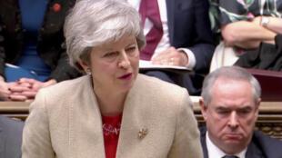 Theresa May padeció un nuevo revés en el Parlamento, el 29 de marzo de 2019 en Londres.