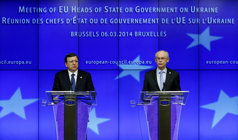 Председатель Еврокомиссии Жозэ Мануэль Баррозу и Президент Совета Европы Херман ван Ромпей (архив)