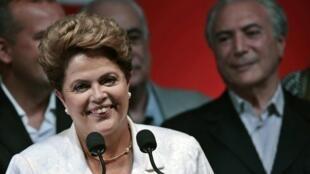 Dilma Rousseff, reeleita neste domingo (26) com cerca de 51% dos votos válidos.