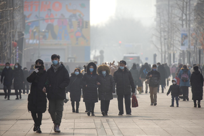 Une rue de Pékin la capitale chinoise en janvier 2021 (image d'illustration).