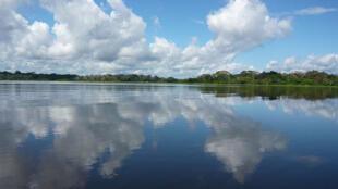 Toda a imensidão do Rio Amazonas que foi reconhecido como uma das sete maravilhas da natureza, nesta segunda-feira (13).