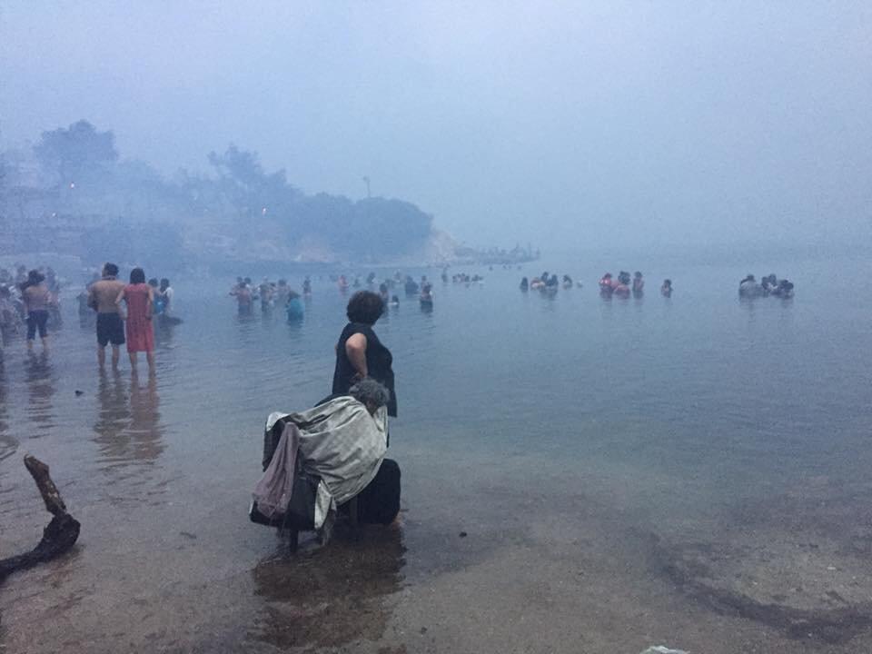 Спастись от пожаров удалось только тем, кто успел добежать до моря