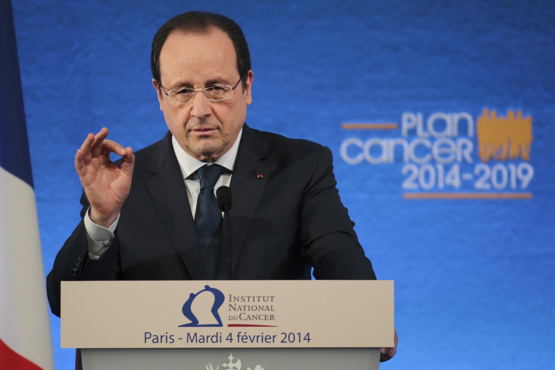 O presidente francês, François Hollande, apresentou nesta terça-feira um plano quinquenal de luta contra o câncer.