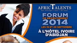Affiche du salon de l'emploi d'Abidjan.