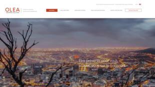 La page d'accueil du site de l'assureur panafricain Olea qui profite du retrait des assureurs internationaux historiques en Afrique.