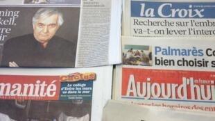 Primeiras páginas diários franceses 28/03/2013