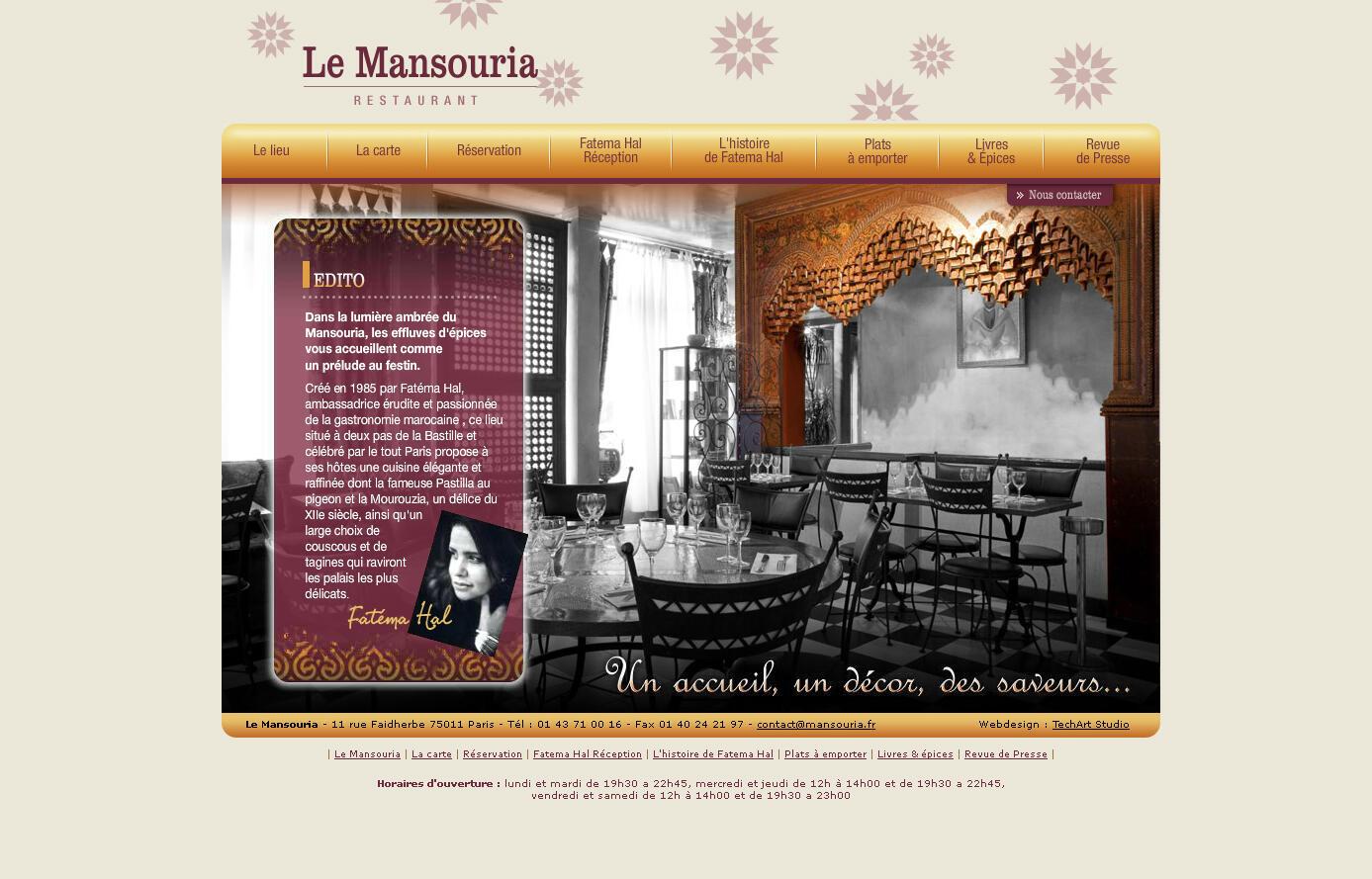 Le restaurant de Fatéma Hal « Le Mansouria », à Paris (11e).