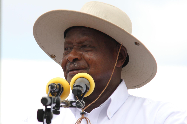 Le président de l'Ouganda, lors d'un discours à Kabaale, le 11 novembre 2017.