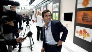 David Pujadas, le 3 septembre 2010, au siège de France télévision.