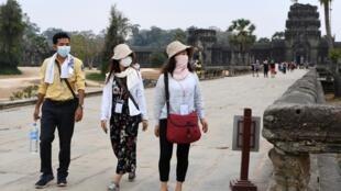 柬埔寨戴口罩的遊客 攝於2020年3月6日