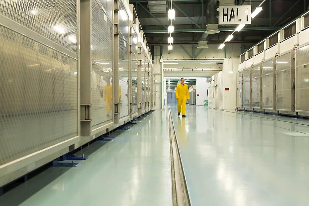 Interior de la planta subterránea de Fordo, donde Irán produce uranio enriquecido, el 6 de noviembre de 2019