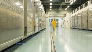 Foto publicada por la Organización de la Energía Atómica de Irán de la planta subterránea de Fordo, el 6 de noviembre de 2019