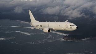 """美軍一架P-8A""""海神""""偵察機資料圖片"""