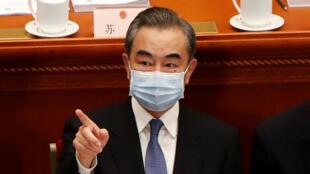 中國外交部長王毅在兩會上