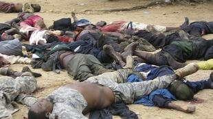 Bodies of Boko Haram members after their showdown with security forces