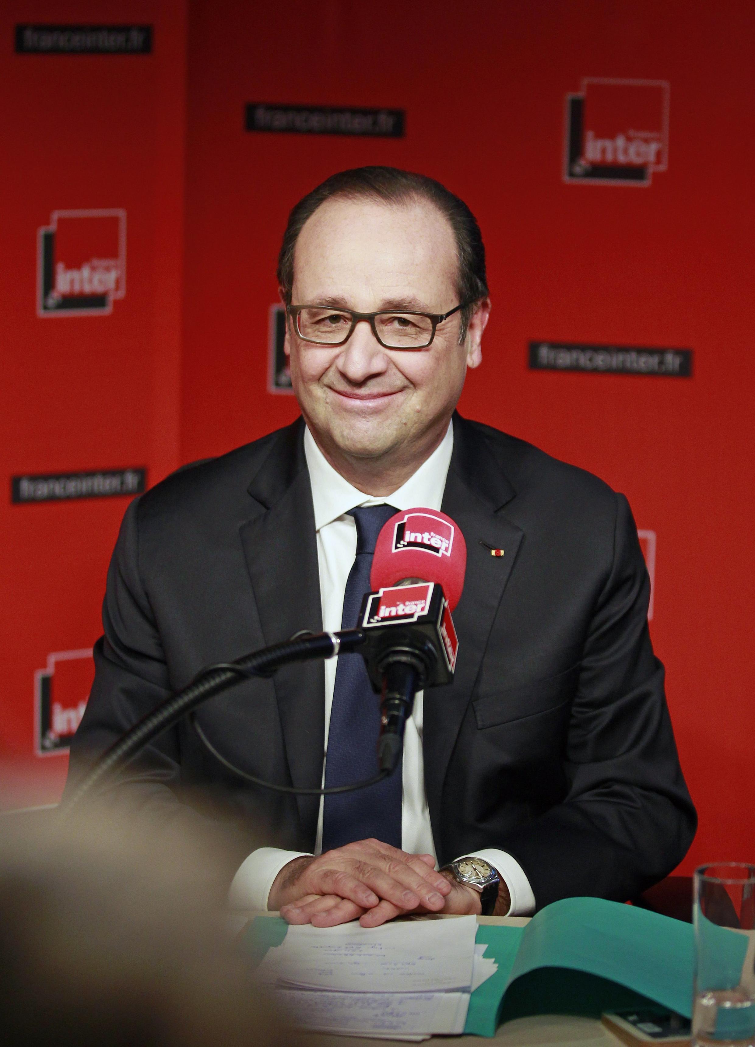 Президент Франции Франсуа Олланд побывал в гостях у радиостанции France Inter.