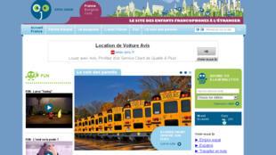 La page d'accueil du site expatjunior.com