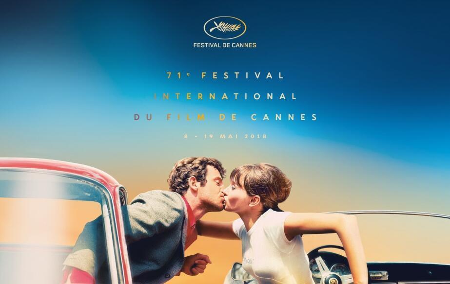 Jean-Paul Belmondo y Anna Karina son los protagonistas del afiche del Festival de Cannes 2018.