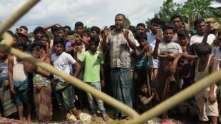 wasu yan gudun hijirar kabilar Rohingya a kasar Myamar