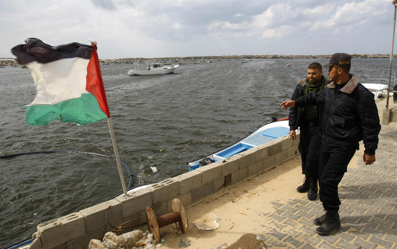Hamas security forces await arrival of Gaza freedom flotilla