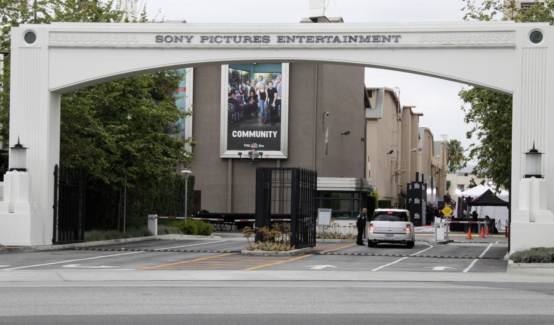 La porte d'entrée des sturios de Sony Pictures, en californie, à Culver City, en Californie.