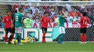 德国队0:2输给韩国  小组赛即被淘汰出局   2018年6月27日