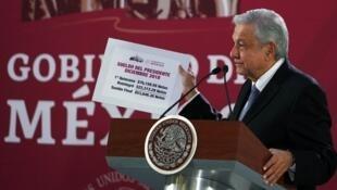 El presidente mexicano Andrés Manuel López Obrador (AMLO), 18 de diciembre de 2018.