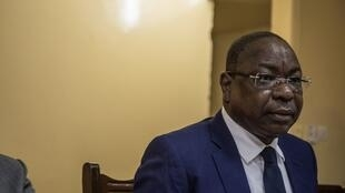 Le chef de la Minusca Mankeur Ndiaye à Bangui le 23 août 2019.