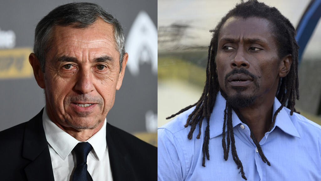 Tunisia coach Alain Giresse (left) coached Senegal for two years before Aliou Cissé (right) took over as boss.