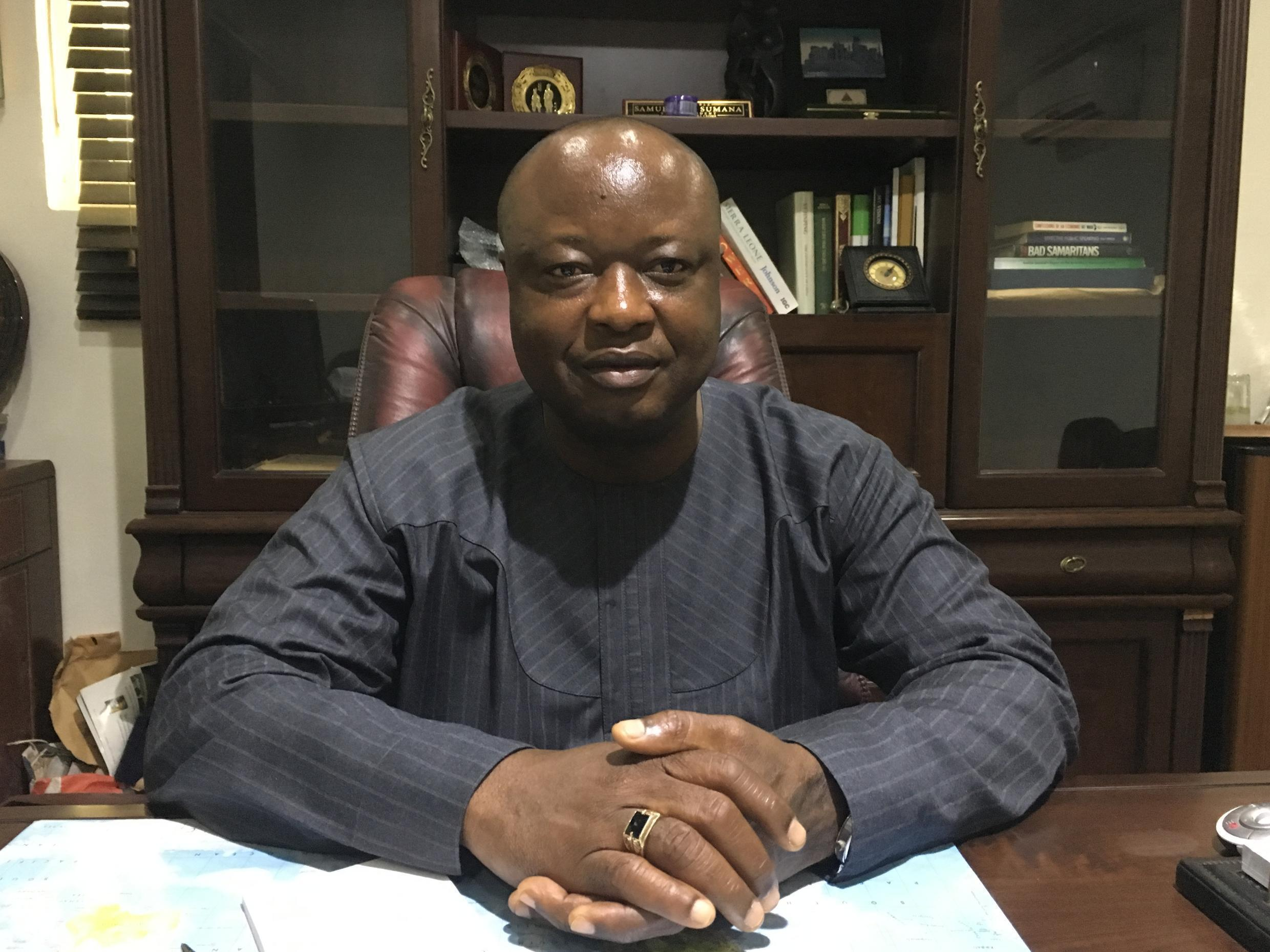 Sierra Leone former VP and presidential candidate Samuel Sumana of the Coalition For Change party