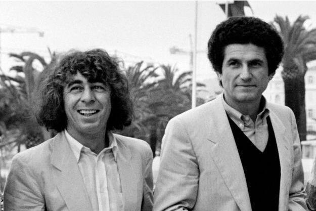 Nhạc sĩ Francis Lai (trái) và đạo diễn Claude Lelouch tại Cannes 1981.