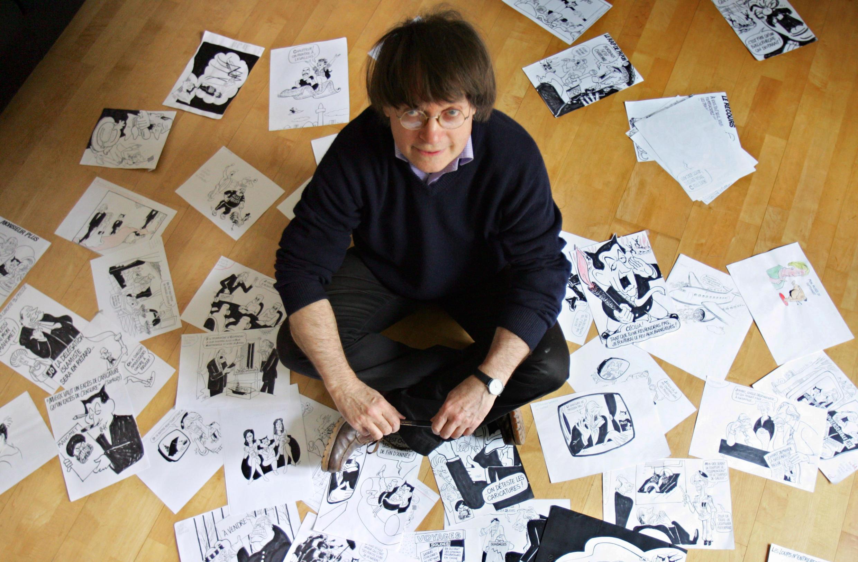 O chargista de Charlie Hebdo Jean Cabu, morto no atentado, em imagem de março de 2006.