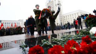 Празднование столетия Октябрьской революции в Минске, 7 ноября 2017.